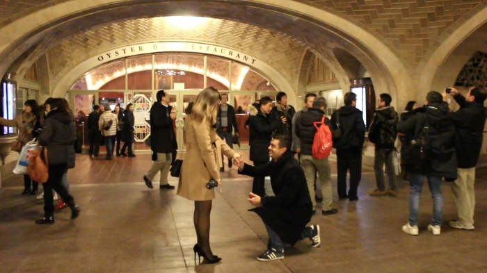 Wedding Proposal Ideas in Grand Central Terminal, NYC