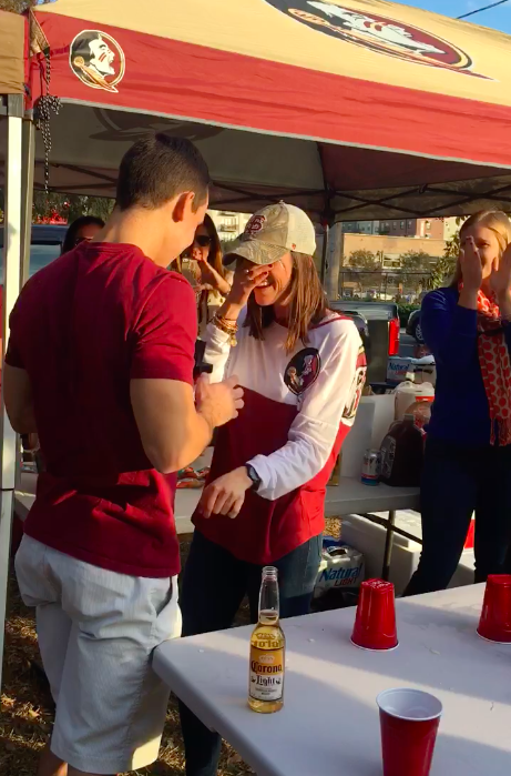 Image 8 of FSU Fan Gets Adorable Surprise During Family Flip Cup Game