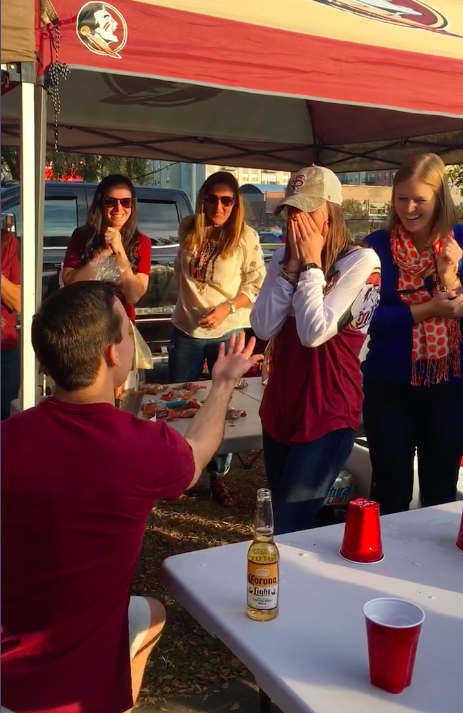 Image 9 of FSU Fan Gets Adorable Surprise During Family Flip Cup Game