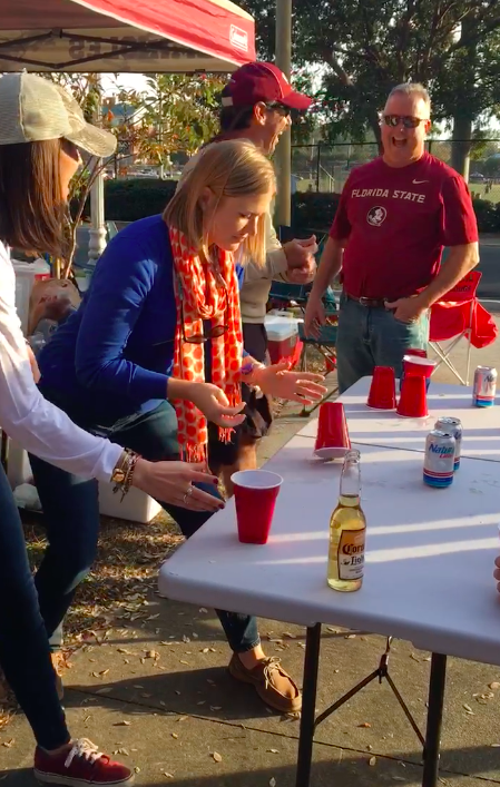 Image 5 of FSU Fan Gets Adorable Surprise During Family Flip Cup Game