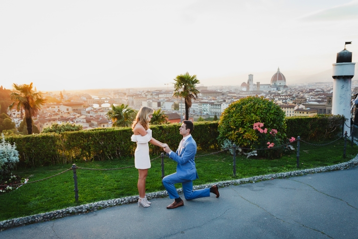 Logan's Proposal in Piazzale Michelangelo in Florence, Italy