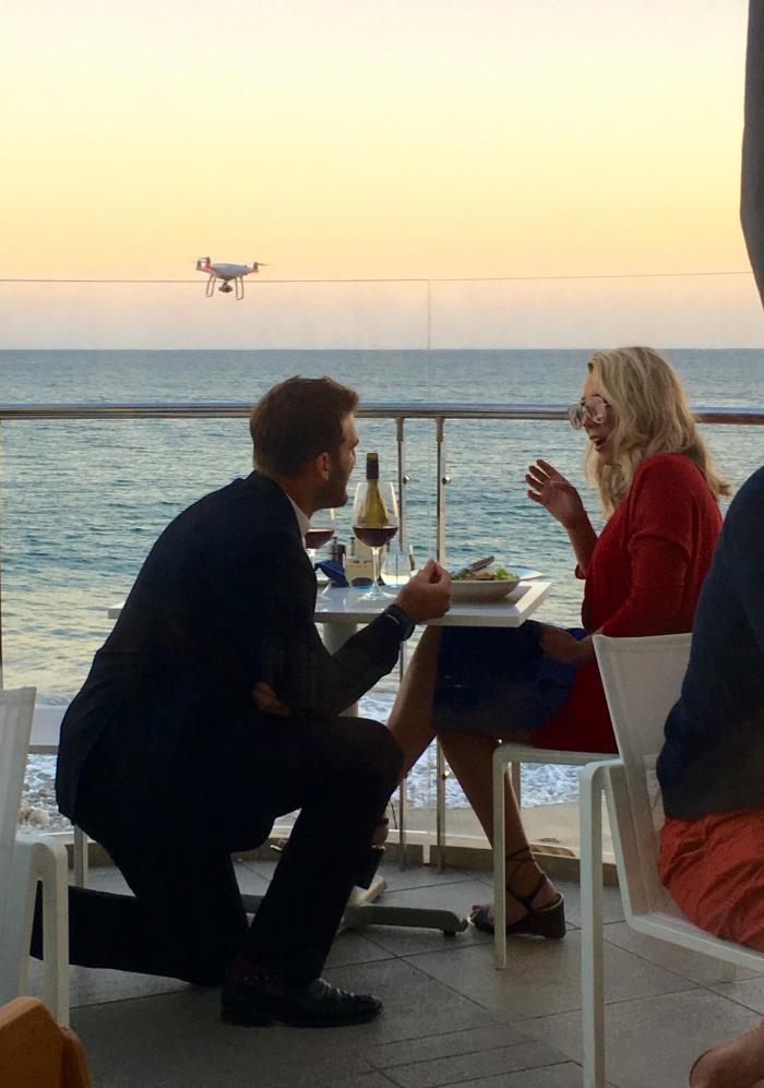 Jake's Proposal in Malibu Beach Inn, Malibu, CA