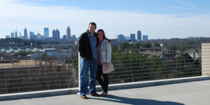 Where to Propose in On top of a parking deck in Atlanta