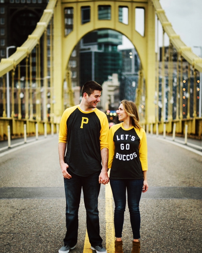 Nicole and Jimmy's Engagement in Roberto Clemente Bridge - Pittsburgh, PA