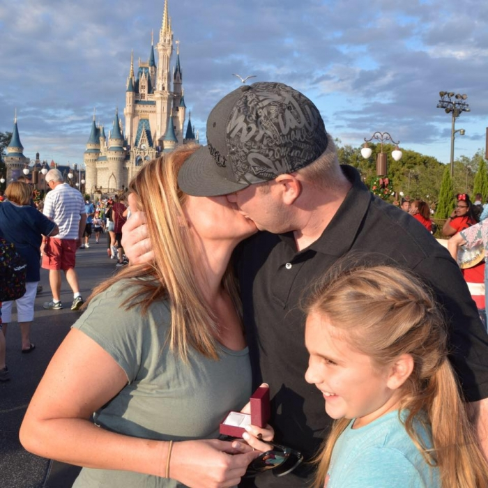 Stacey and Robert's Engagement in Magic Kingdom