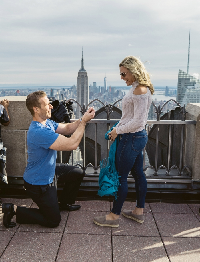 Wedding Proposal Ideas in New York City - Top of the Rock