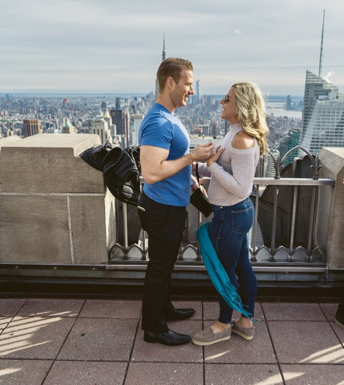Megan and Charles's Engagement in New York City - Top of the Rock