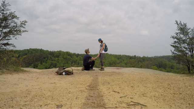 Rozen's Proposal in Red River Gorge, Kentucky