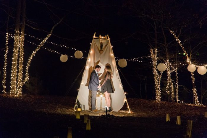 Wedding Proposal Ideas in In Grant's backyard in Clarksville, TN.