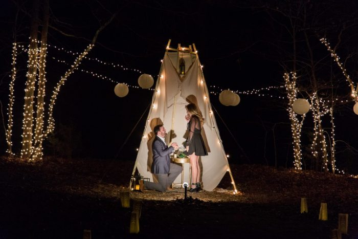 Marriage Proposal Ideas in In Grant's backyard in Clarksville, TN.