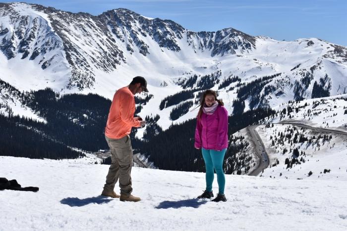 Amanda and Joshua's Engagement in Loveland Pass, CO