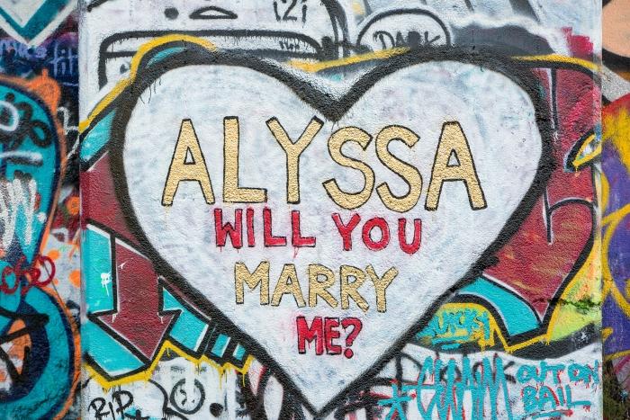 Alyssa's Proposal in Graffiti Pier- Philadelphia, PA