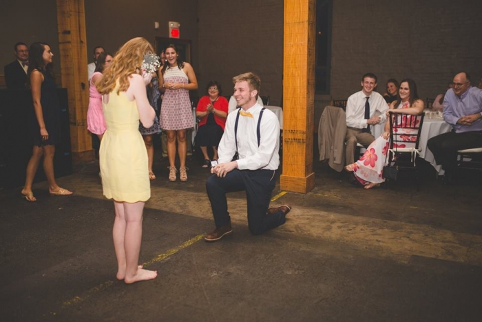 Wedding Proposal Ideas in His sister's wedding