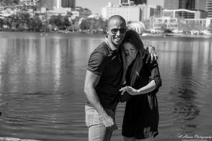 Wedding Proposal Ideas in Lake Eola, Downtown Orlando Florida