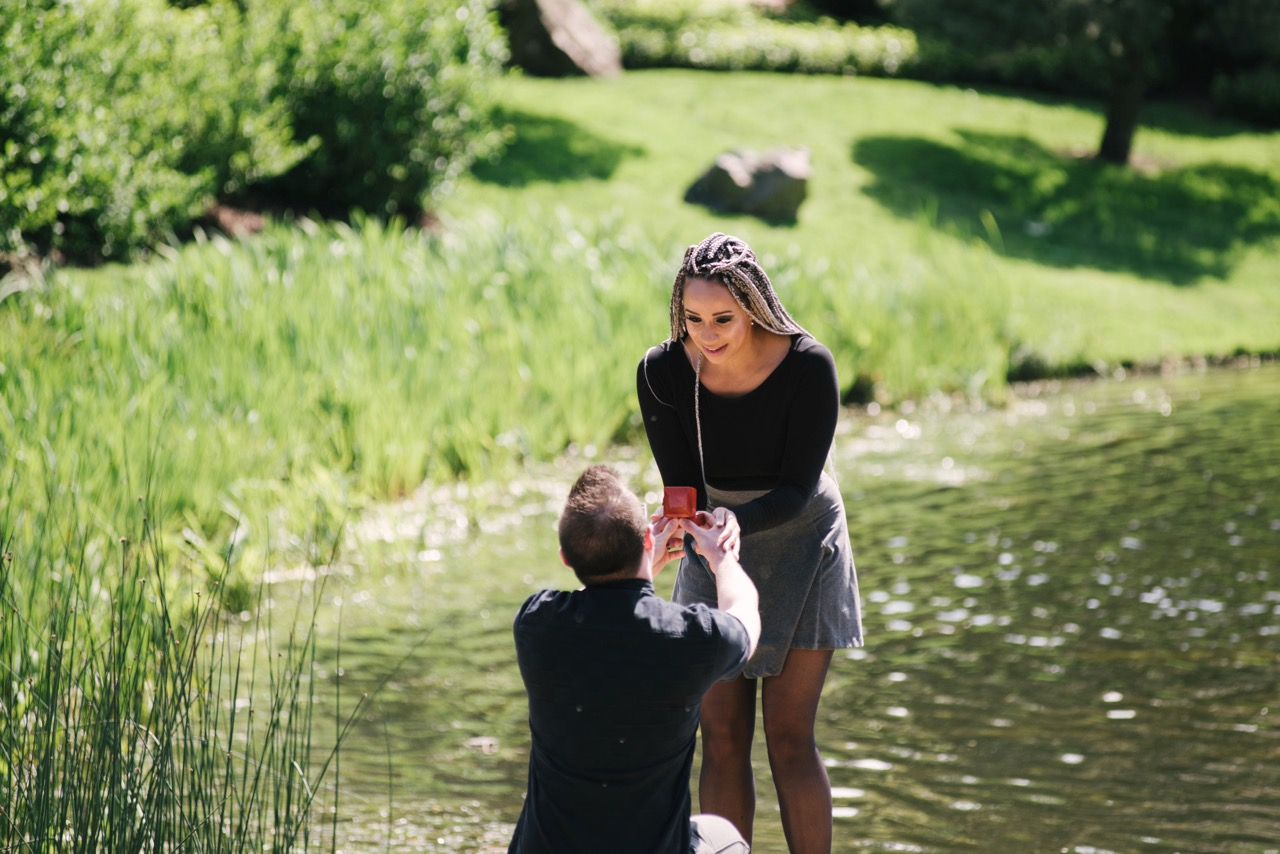 Chassidy and Drew's Engagement in Chicago Botanic Gardens