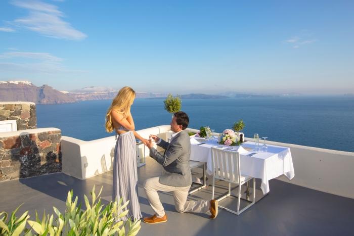Kirsten and Daniel's Engagement in Santorini, Greece