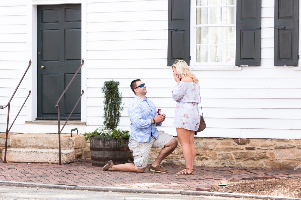 Charlotte And Nick S Proposal On The Knot S Howheasked Com