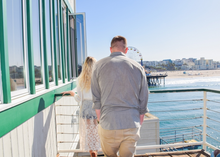 Brianna and Michael's Engagement in Santa Monica Pier