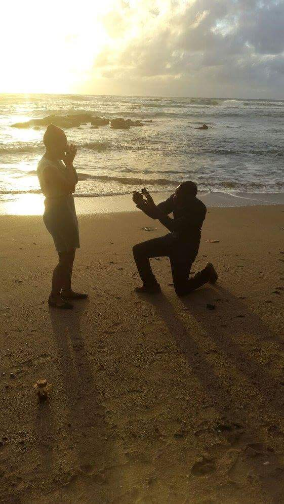 Engagement Proposal Ideas in Rampanalgas Beach, Toco, Trinidad, Trinidad and Tobago, West Indies