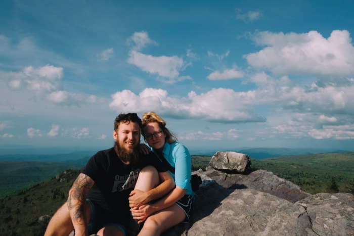 Ashley's Proposal in Roan Mountain on the Appalachian Trail in Tennessee