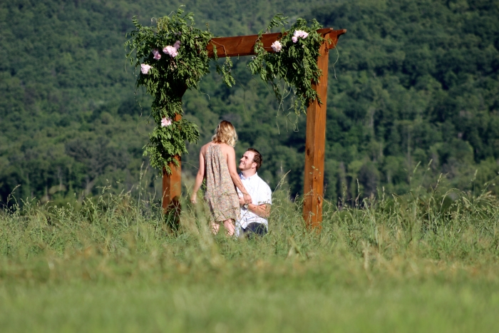 Marriage Proposal Ideas in Friends' Farm