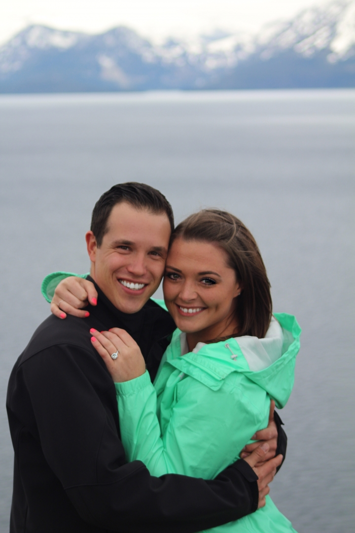 Francesca and Christopher's Engagement in Cave Rock, Lake Tahoe