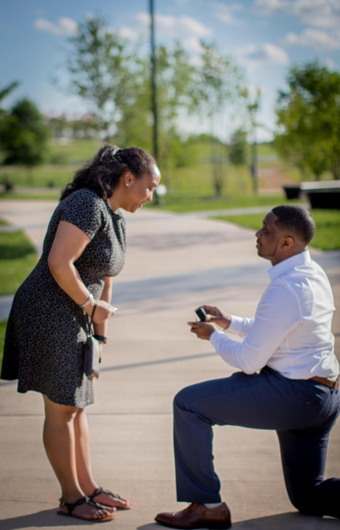 Ashleigh and Del's Engagement in Washington D.C. - National Museum of African American History and Culture, The Washington Monument