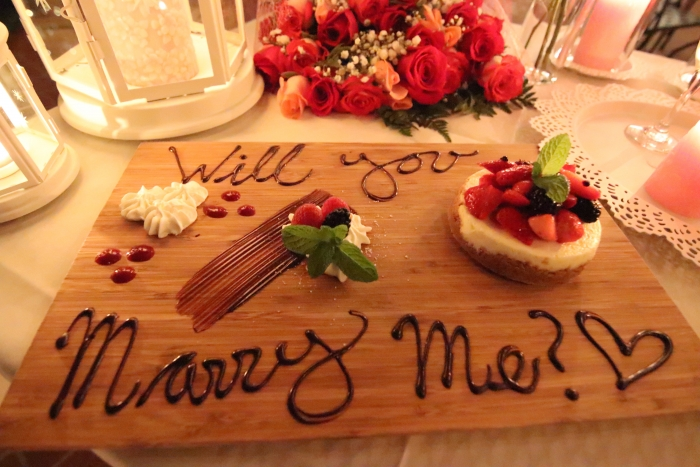 Marriage Proposal Ideas in Orange Hill Restaurant