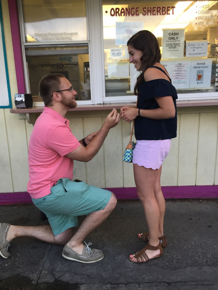 Marianna's Proposal in Masso's Water Ice and Custard