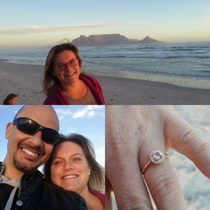 Kirsti's Proposal in Blouberg Beach Cape Town