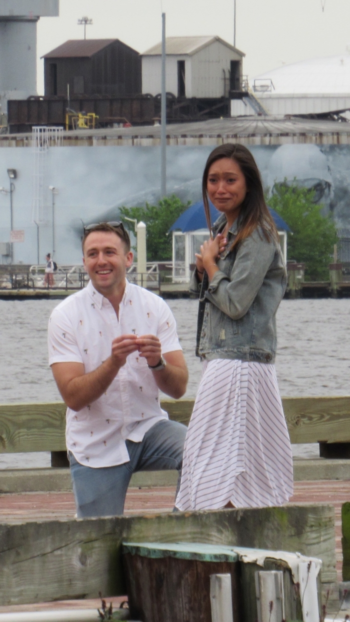 Wedding Proposal Ideas in Fell's Point Pier, Baltimore MD