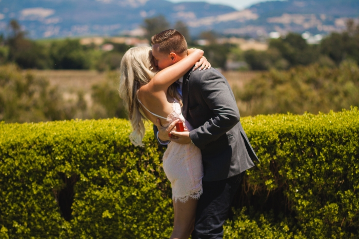 Sydnie and Branden's Engagement in Domaine Carneros Winery, Napa, CA