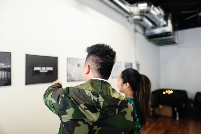 Lizzy and Jermaine's Engagement in Le Tesebita Art Gallery in Portland, OR