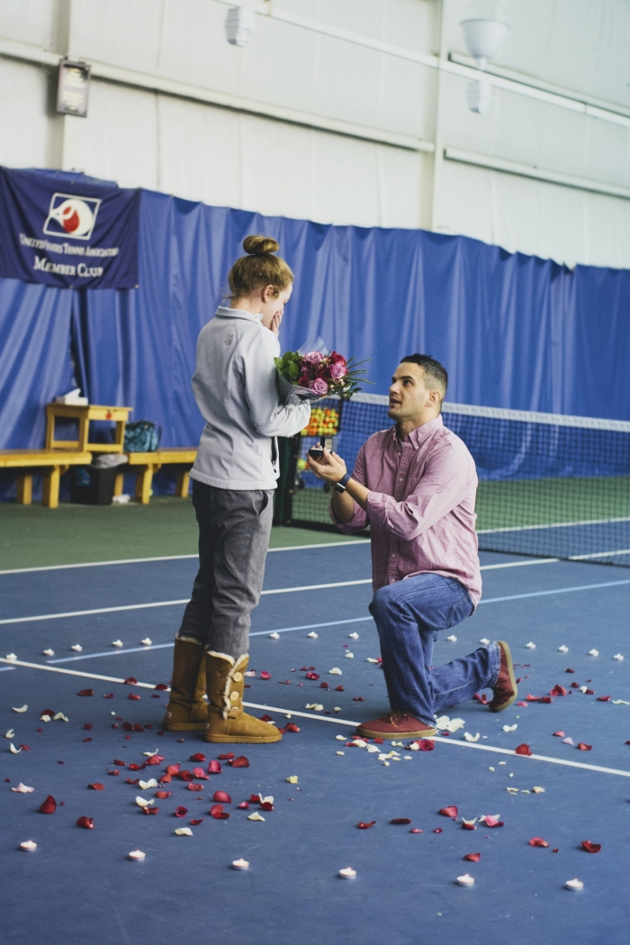 Kaylee's Proposal in Tennis court