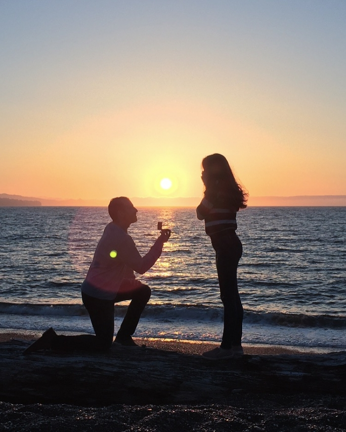 Whitney's Proposal in Clallam Bay, WA