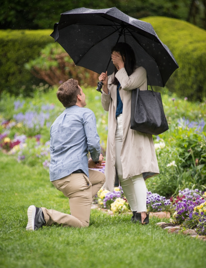 Wedding Proposal Ideas in Dumbarton Oaks Wedding