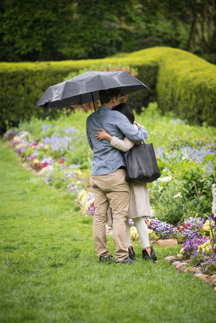 Bianca's Proposal in Dumbarton Oaks Wedding