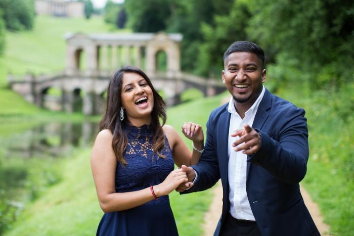 Keetna and Ajith's Engagement in Palladian Bridge, Bath