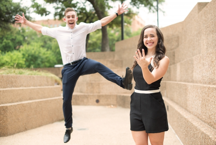 Engagement Proposal Ideas in Fort Worth Water Gardens