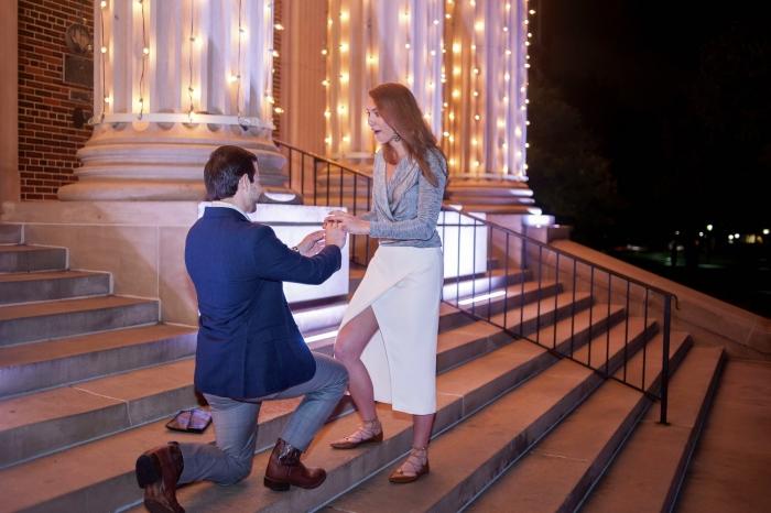 Kathryn's Proposal in Dallas Hall