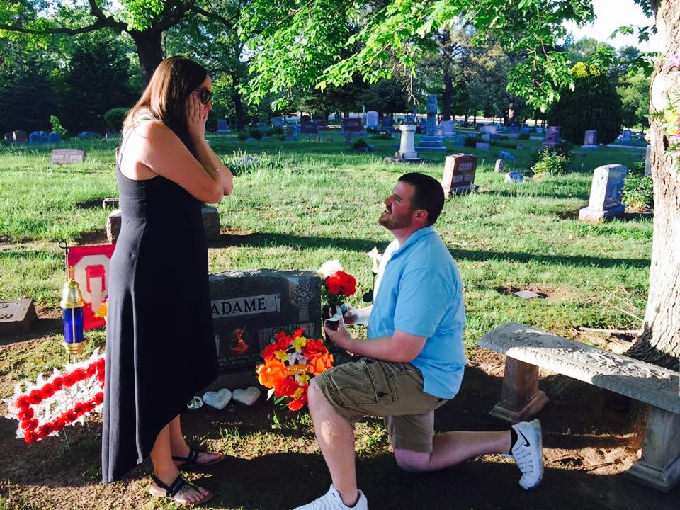 Image 1 of Years After His GF's Father Passed Away, This BF Found the Sweetest Way to Still Include Him in His Proposal