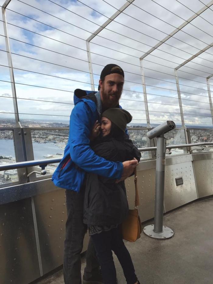 Karolina's Proposal in Seattle, Space Needle