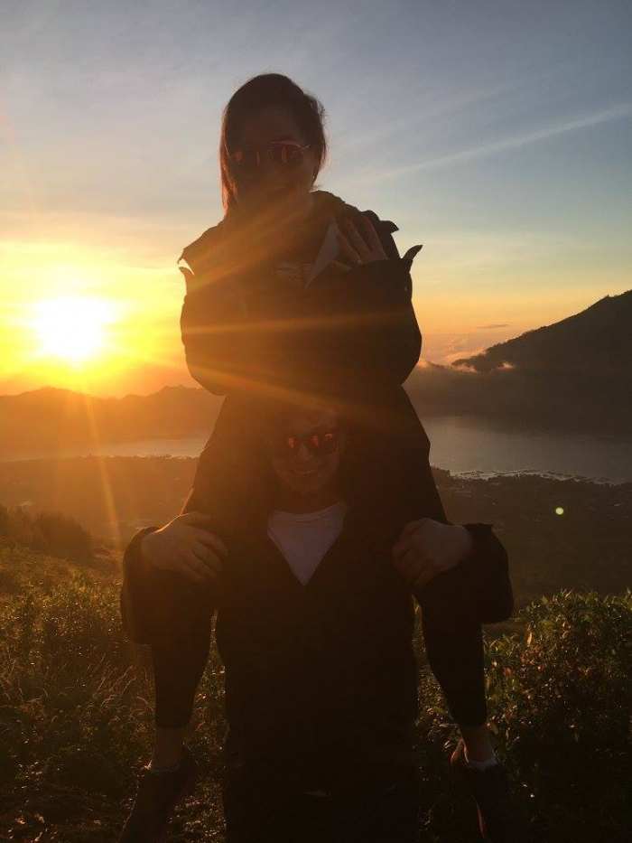 Engagement Proposal Ideas in Bali, Indonesia at the top of Mt. Batur, an active volcano