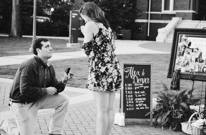 Engagement Proposal Ideas in Samford Lawn- Auburn, AL
