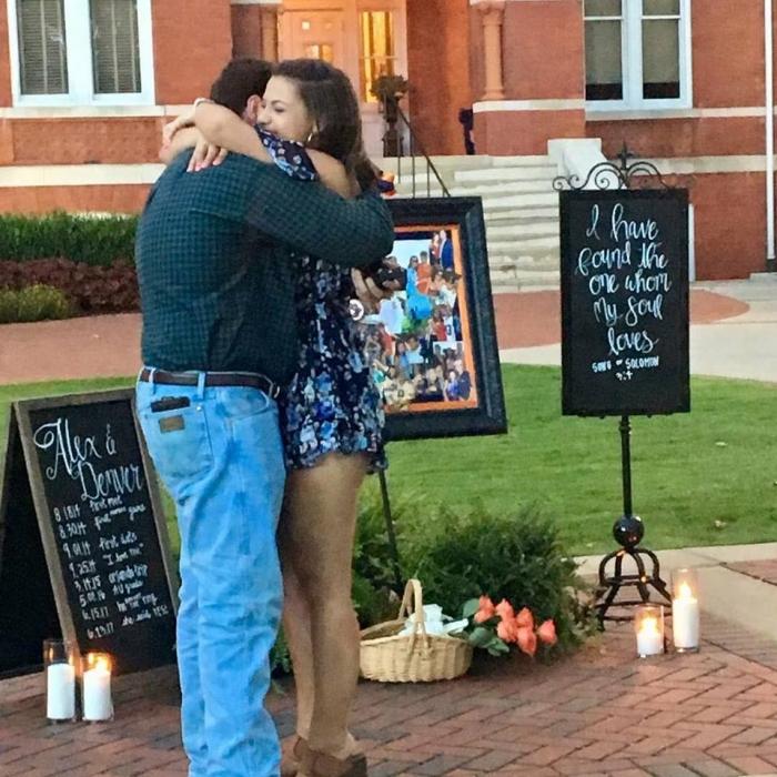 Alex's Proposal in Samford Lawn- Auburn, AL