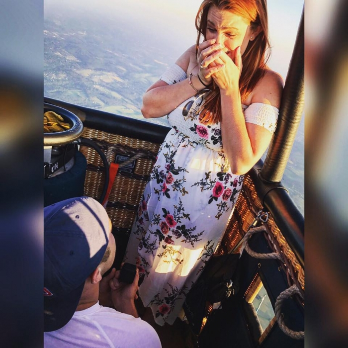 Marriage Proposal Ideas in Hot Air Balloon Ride