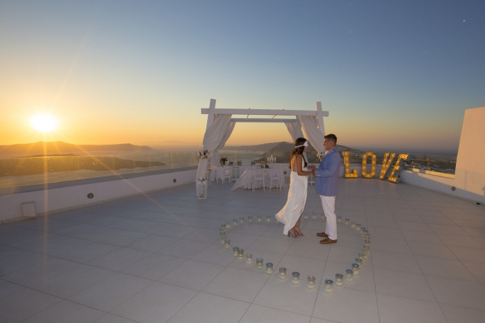Amanda and Anthony's Engagement in Santorini, Greece