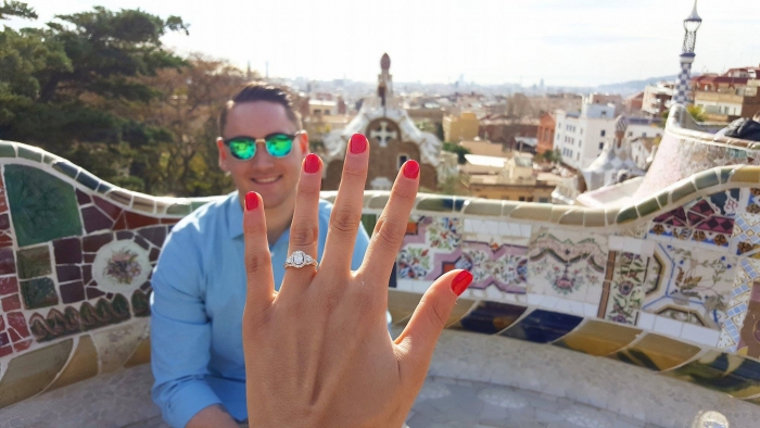 Marriage Proposal Ideas in Barcelona, Spain.