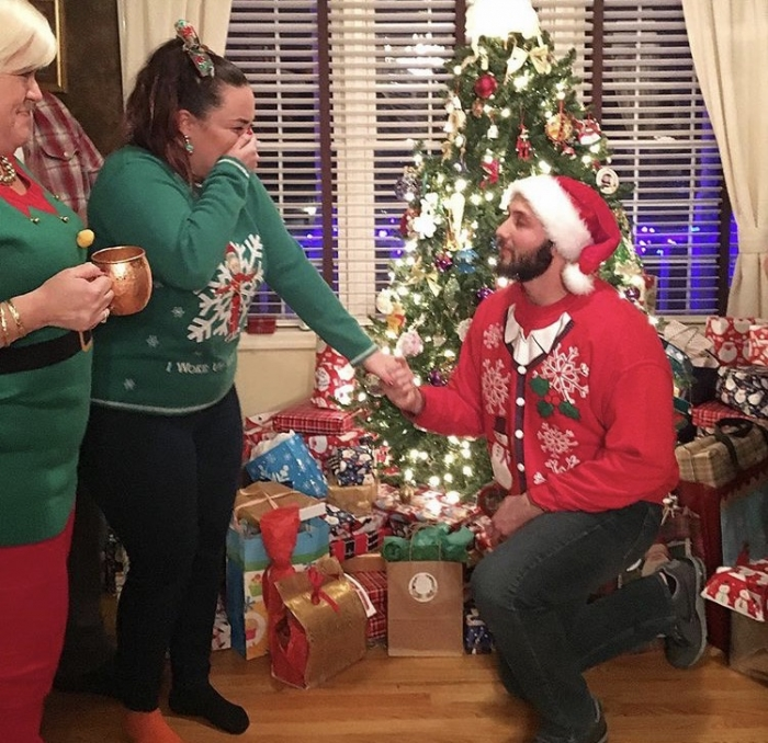 ugly sweater party holiday proposal ideas