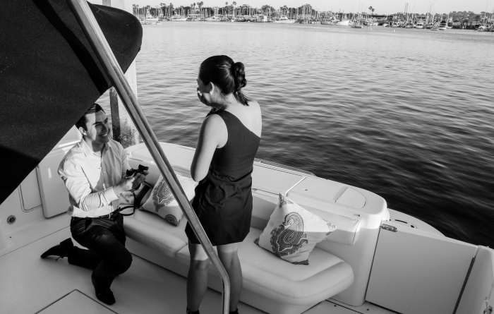 Wedding Proposal Ideas in Private Yacht in San Diego